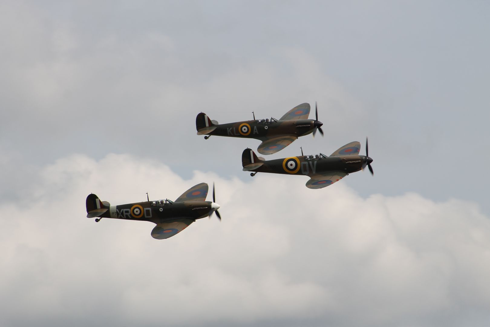 Three Spitfires at Flying legends